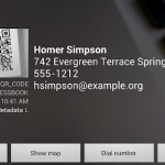 Android aplikace Barcode scanner
