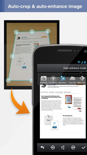 Android aplikace CamScanner