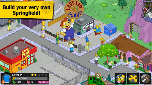 Android hra The Simpsons