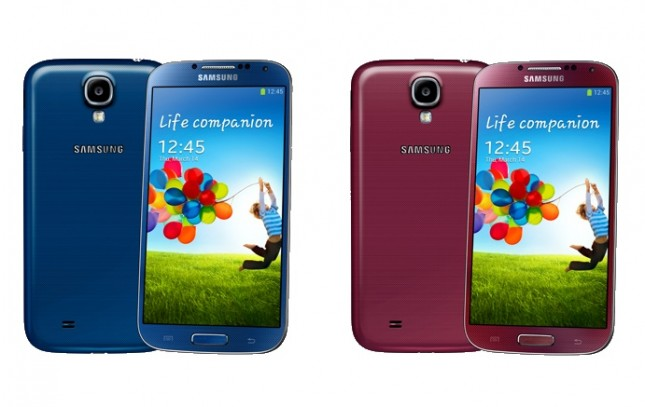 Samsung Galaxy S4 Blue Artctic / Red Aurora